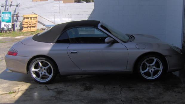 Grey Porsche Black Convertible Top Replacement