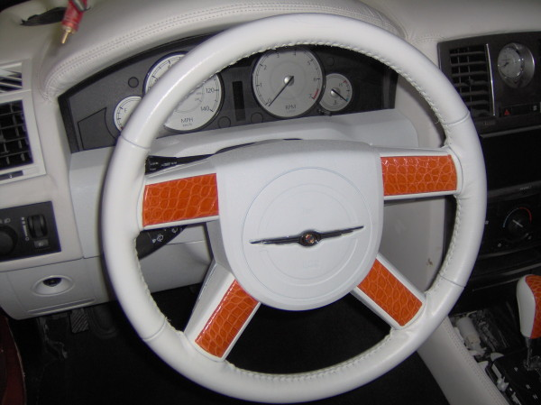 Alligator Leather Steering Wheel